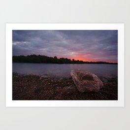 Sunrise Glow At Chasewater Art Print