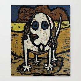 """""""Skippy visits Canyon lands Canvas Print"""