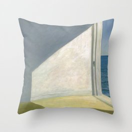 Rooms By The Sea Edward Hopper Painting Throw Pillow