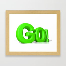 GO Green Framed Art Print