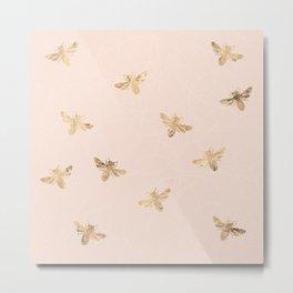 Busy Bees (Pink) Metal Print