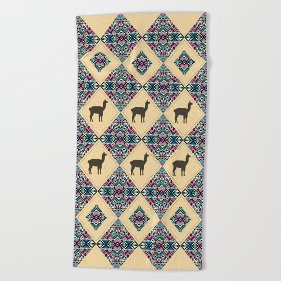 Andes pattern Beach Towel