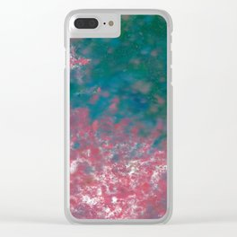 Flower Petals in the Wind Clear iPhone Case