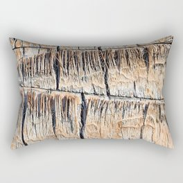 Palm Tree Razor Cuts // Close Up Tan and Natural Wood Texture Rectangular Pillow