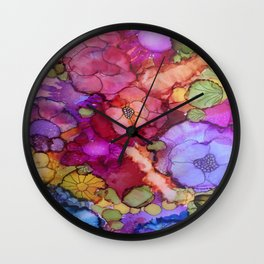 L and L Flower Explosion Wall Clock