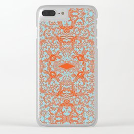Lace Variation 04 Clear iPhone Case