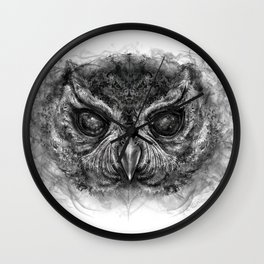 Cosmic Owl Wall Clock