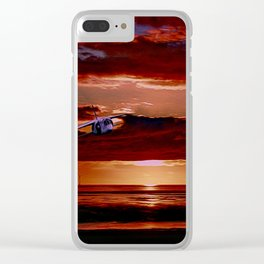 TSR2 at Sunset (Digital Painting) Clear iPhone Case