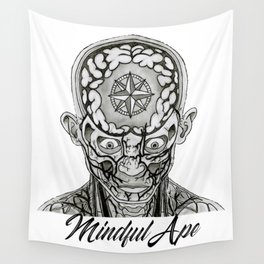 Mindful Ape Wall Tapestry