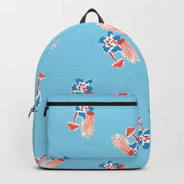 Fungi Forest in Blue Wave Backpack
