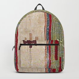 Arcade Star Kilim // 17th Century Colorful Muted Lime Green Southwest Cowboy Ornate Accent Pattern Backpack