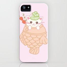 TAIYAKI AND THE KITTY CUTE ICE CREAM iPhone Case