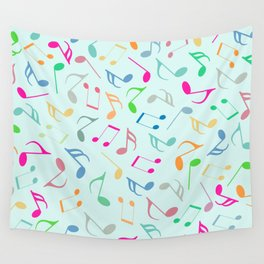 Music Colorful Notes Wall Tapestry