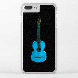 Blue Guitar Clear iPhone Case