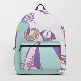 Strange Serpent Tongue Snake Cat Drawing Backpack