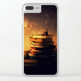 midnight tale Clear iPhone Case