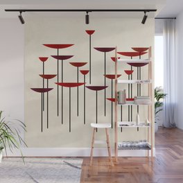 Contemporary II - red Wall Mural
