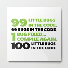 Little bugs in the code Metal Print