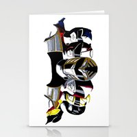 power rangers Stationery Cards featuring Power Rangers by SquidInkDesigns