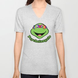 Psychelangelo - The Lost Ninja Turtle Unisex V-Neck