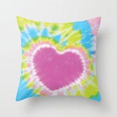 Love Tye Dye 2 Throw Pillow