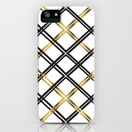 Crosshatch in Gold iPhone Case