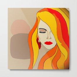 Redhead Beauty 1 Metal Print