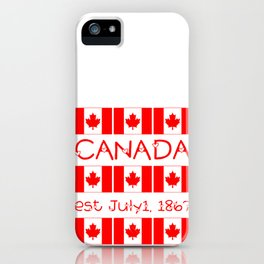 Canada Day Maple Leaf Pattern Canadian Flag iPhone Case