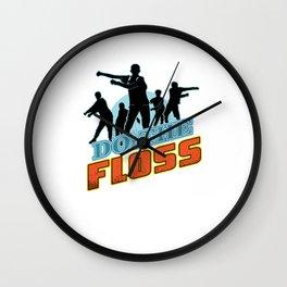 Do The Floss Wall Clock