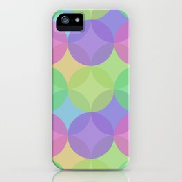Multicoloured Layered Geometric Circles Digital Pattern iPhone Case
