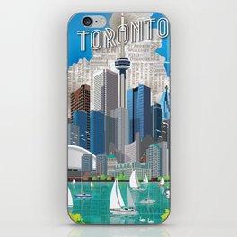 Toronto Skyline wide iPhone Skin