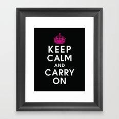 Keep Calm and Carry On Framed Art Print