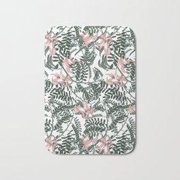 Botanical floral print - Sweet Pea Bath Mat
