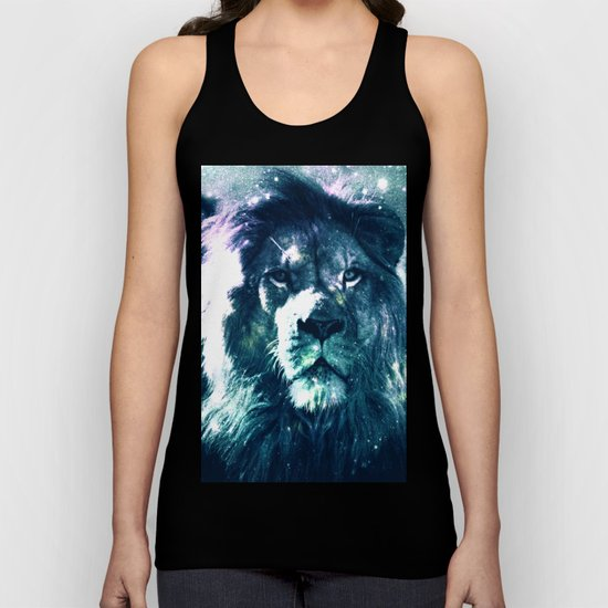 Lion Leo Teal Unisex Tank Top