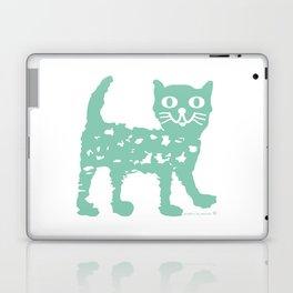 Mint cat drawing, cat drawing Laptop & iPad Skin