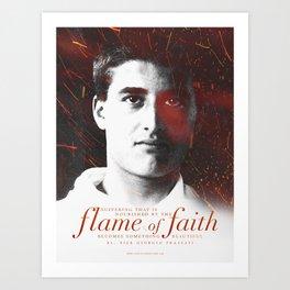 "Frassati ""Flame of Faith"" Art Print"
