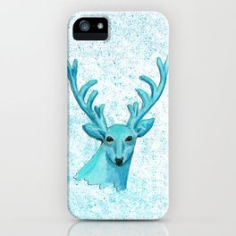Blue Deer iPhone Case