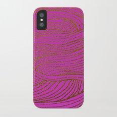 Wind Hot Pink Gold iPhone X Slim Case
