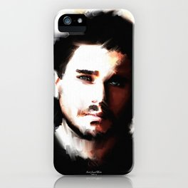 Portrait of Kit Harrington iPhone Case