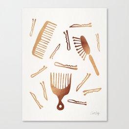 Good Hair Day – Rose Gold Palette Canvas Print