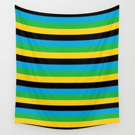 Tanzania flag stripes Wall Tapestry