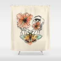 moth Shower Curtains featuring Moth by Liam Hopkins
