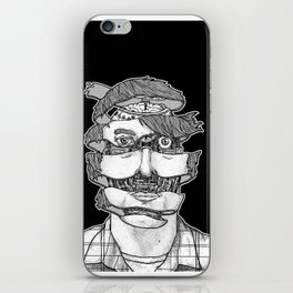 portrait of the artist as an unraveling drone iPhone Skin