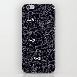 Splats 'n Guns (Black) iPhone Skin