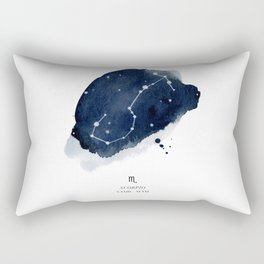 Zodiac Star Constellation - Scorpio Rectangular Pillow