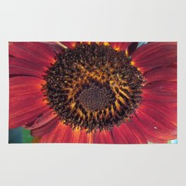 The Red Sunflower Rug