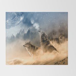 Moonrise Howl Throw Blanket