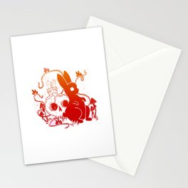 Ghost Rabbit - Fire Toned Stationery Cards