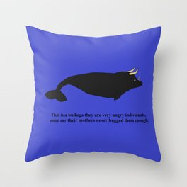 Bulluga Throw Pillow