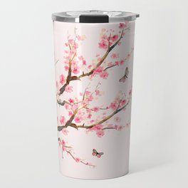 Pink Cherry Blossom Dream Travel Mug